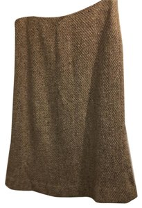 Ralph Lauren Black Label Skirt Brown Tweed