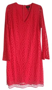 Laundry by Shelli Segal Lace V-neck Longsleeve Dress