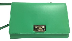 Kate Spade Messenger Fiona Harwood Place Satchel in Bud Green
