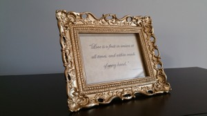 Ornate Antique Gold Picture Frame