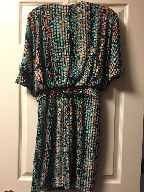 Laundry by Shelli Segal short dress Teal/Multi-Color on Tradesy