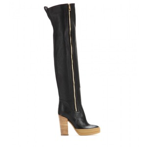 Chloé Over-the-knee Leather Black Boots