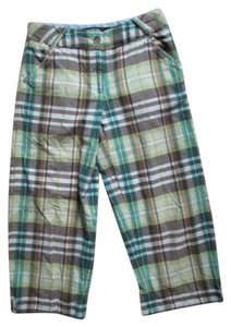 Lands' End Plaid Cropped Summer Spring Xs Capris Multicolored