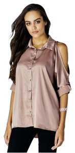 New Look Blush Silky Top nude