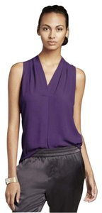 Banana Republic Sleeveless Plum Low Cut Crepe Top purple