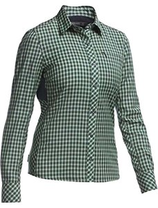 Icebreaker Icebreaker Women's Terra Long Sleeve Plaid Shirt- Medium
