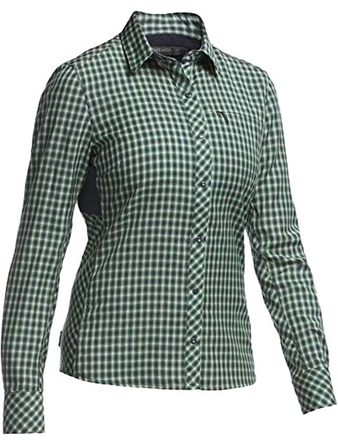 Icebreaker Panther/Panther Plaid Women's Terra Shirt- Medium Activewear Top Size 8 (M, 29, 30) Icebreaker Panther/Panther Plaid Women's Terra Shirt- Medium Activewear Top Size 8 (M, 29, 30) Image 1