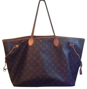 Louis Vuitton Neverfull Speedy Gm Mm Monogran Tote in Brown