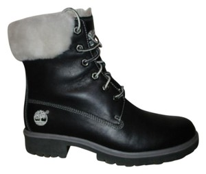 Timberland Leather Faux Fur black Boots