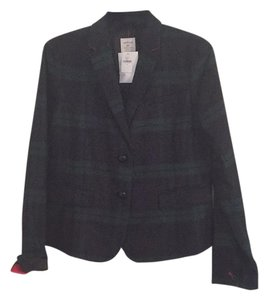Gap Green glen plaid(with navy andd black)with red detaik Blazer