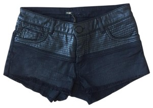 Maje Cut Off Shorts Black
