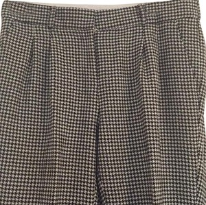 Kate Spade Straight Pants Black and white houndstooth
