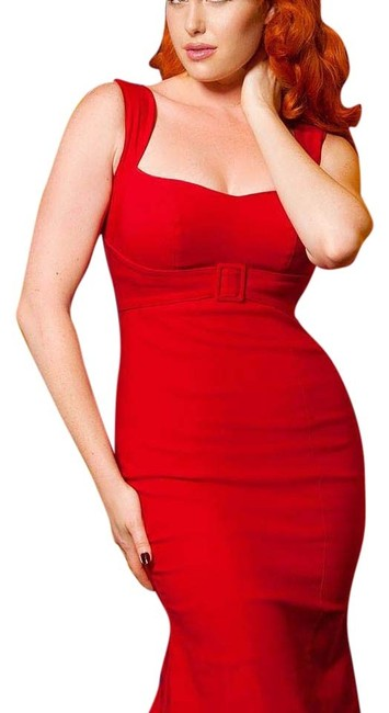 Item - Red Jessica Knee Length Night Out Dress Size 16 (XL, Plus 0x)