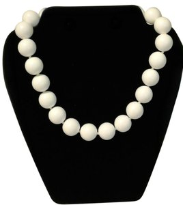 MONET Big Beautiful White Bead Necklace