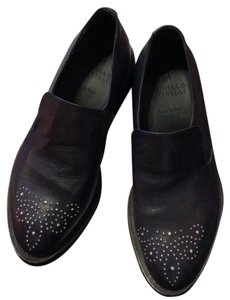 Brunello Cucinelli Navy leather Flats