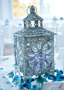 Crystal Jeweled Tabletop Lanterns X9