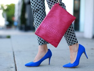 Old Navy Work Suede Blue Pumps