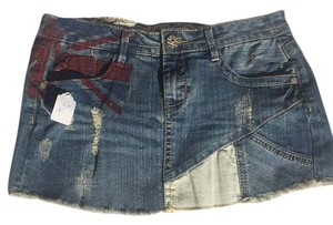 Hot Kiss Mini Skirt Denim