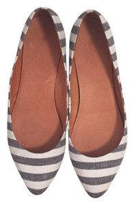 Madewell Black and cream stripe Flats
