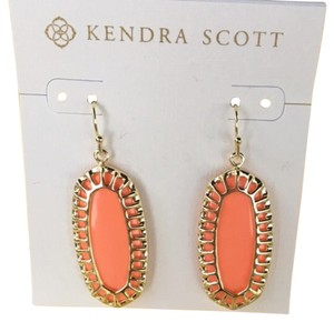 Kendra Scott Kendra Scott Dayla's In Stunning Coral w/ Gold Cage Trim, Reversible
