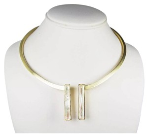 Kendra Scott Stunning Modern Tristan Open Collar Necklace Mother Of Pearl NWT