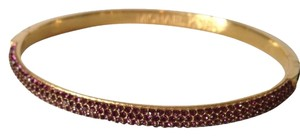 Michael Kors Gold-Tone Purple Pave Bracelet