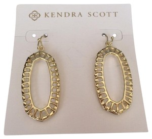 Kendra Scott Stunning Kendra Scott Dayla Classic Clear w/ Gold Cage Trim Earrings, Reversible