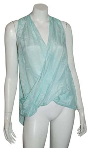 Calypso St. Barth Embellished Beaded Shell Top mint green