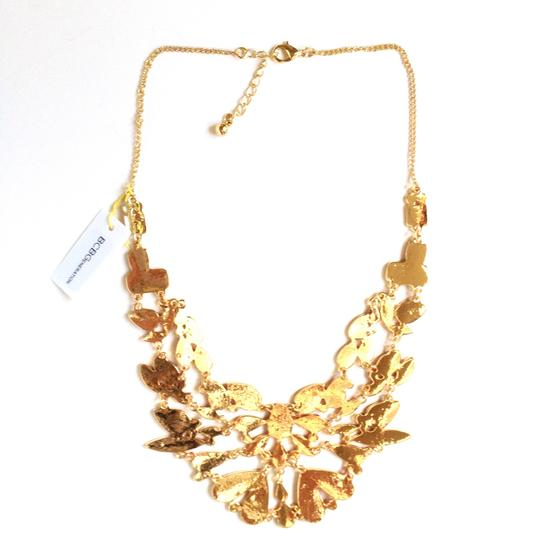 BCBGeneration Bib necklace red and gold color