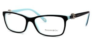 Tiffany & Co. NEW Twist Eyeglasses TF 2104 c. 8055 Black on Tiffany Blue 53mm