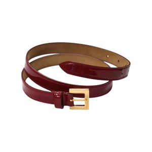 Dolce&Gabbana DOLCE & GABBANA Red Leather Gold Buckle Belt s. 75cm / 30in.