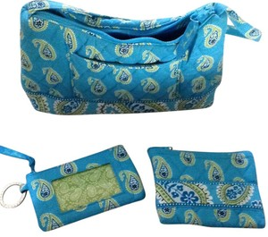 Vera Bradley Satchel in Blue, White And Green