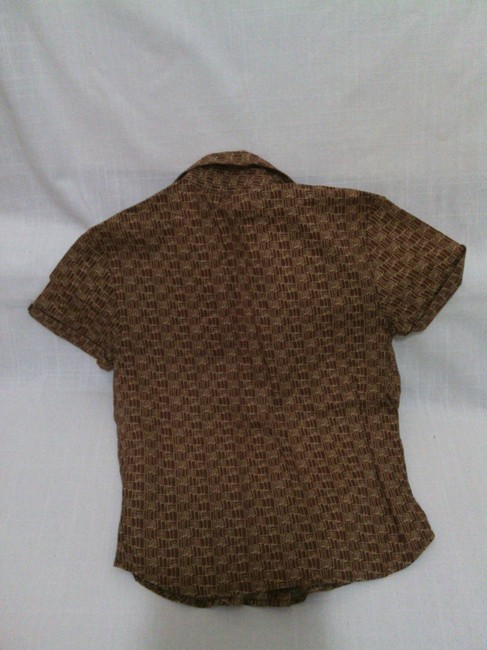 Guess Button Down Shirt Brown