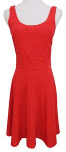 Aqua Sleeveless Fit Flare Day Evening Made In Usa Dress