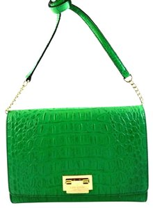 Kate Spade Croc Leather Messenger Fiona Harwood Place Cross Body Bag