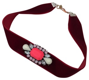 Elliot Francis Velvet and crystal choker