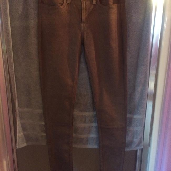 Item - Pink Purple Shimmer Gold Curved Id Skinny Jeans Size 30 (6, M)