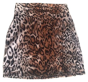Motel Rocks Mini Skirt Leopard