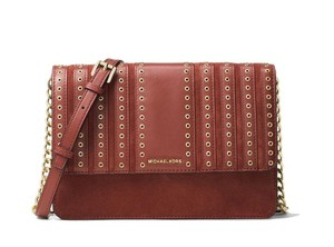 Michael Kors Brooklyn Grommet Leather Cross Body Bag