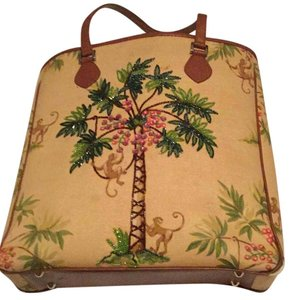 Isabella Fiore Tote in Beige, Brown, Green