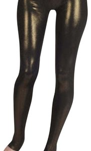6126 Black Shimmer Gold Leggings