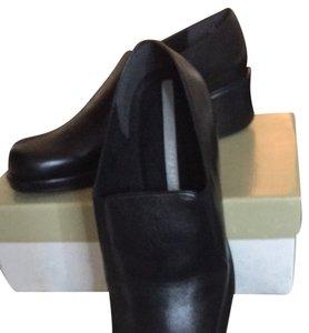 Easy Spirit Black Leather Wedges