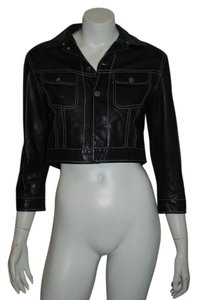 Ralph Lauren Label Leather BLACK Leather Jacket