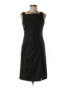 Rampage A-line Silhouette Snakeskin Office Faux Suede Dress