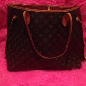 Louis Vuitton Neverfull Gm Monogram Tote in Brown Cherry