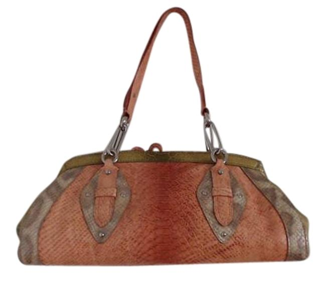 Item - Trinity Python Embossed ~ Su05 Multi-colored Rust Greens Leather Satchel