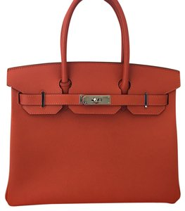 Hermès Satchel in Orange Feu