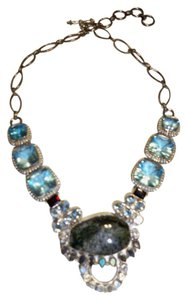 Silver Co. Multi Gemstones Silver Necklace