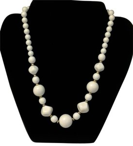 Beautiful White Beaded Necklace