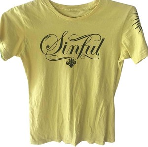 Sinful T Shirt Yellow